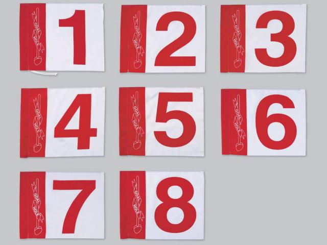 グラウンド・ゴルフ8ホールセット用旗 ハタチ