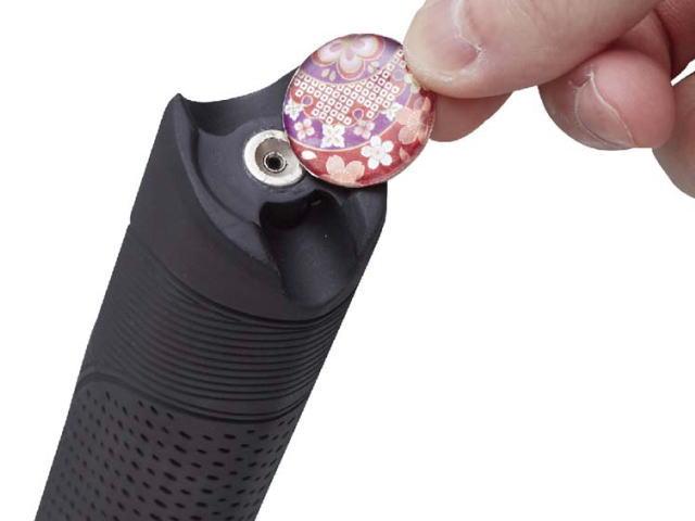 交換用マーカーホルダー付きグリップのマーカ―取付箇所 ハタチ BH6231
