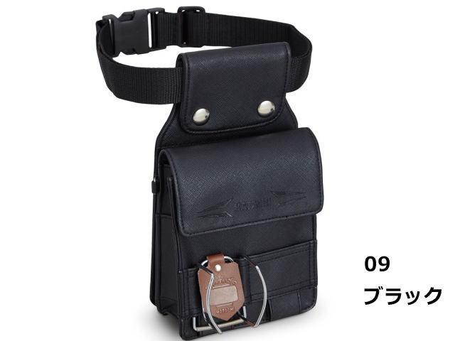 グラウンド・ゴルフ ベルトポーチ2 カラー ブラック ハタチ BH7911