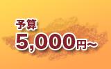 予算5000円から